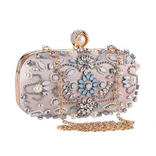 YWAWJ Evening Bags and Clutches for Women Crystal Beaded Rhinestone Purse Wedding Party Handbag