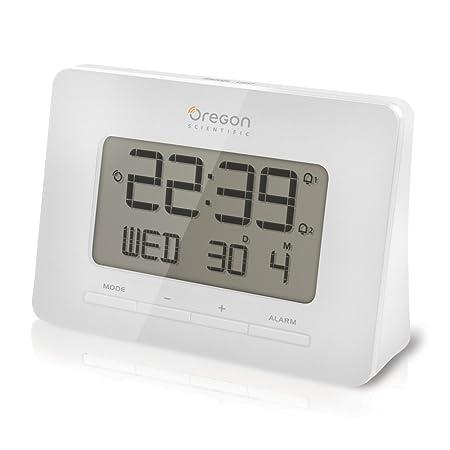 Oregon Scientific RM938-W - Reloj de sobremesa, radio controlado ...