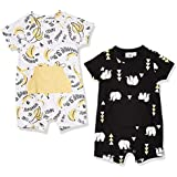 Silly Apples (045) Baby Boy 2-Pack Short-Sleeve Romper (NB)