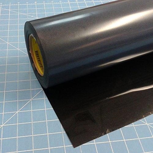 """: Black Siser 15"""" x 3' Iron on Heat Transfer Vinyl Roll - Matte"""