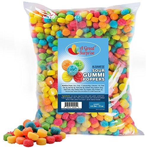 Sour Gummies - Sour Gummi Poppers - Smiley Face Candy - Gummy Sour Candy - Bulk Candy 4.5 LB