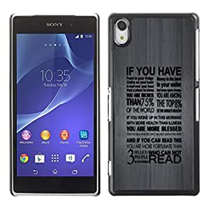 GagaDesign Phone Accessories: Hard Case Cover for Sony Xperia Z2 - Deep Typography Message