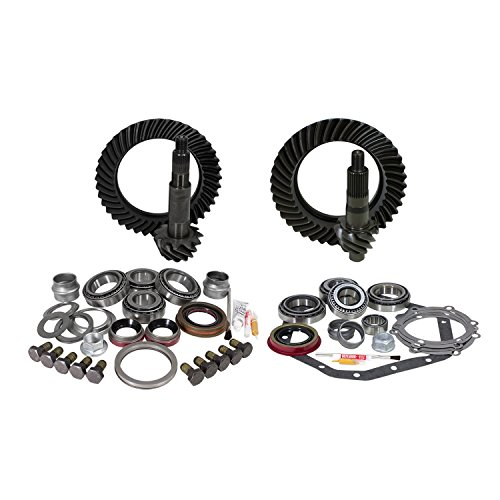 USA Standard Gear ZGK022 Ring And Pinion Set And Complete Install Kit Dana 60 Standard Rotation And GM 14T 5.13 Gear Ratio Ring And Pinion Set And Complete Install Kit