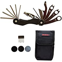 LB1 High Performance Multi Bike Bicycle Tools (20 Functions) for Framed Minnesota 2.0 Fat Bike Black with Tire Patch Nylon Bag Bicycle Cycling Maintenance Repair Tool Kit