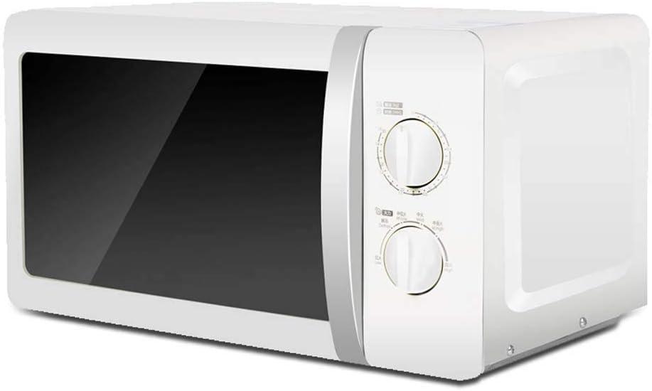 Horno de microondas compacto pequeño microondas encimera de acero inoxidable con Liner, Tocadiscos Calefacción, Perilla mecánica, 20L