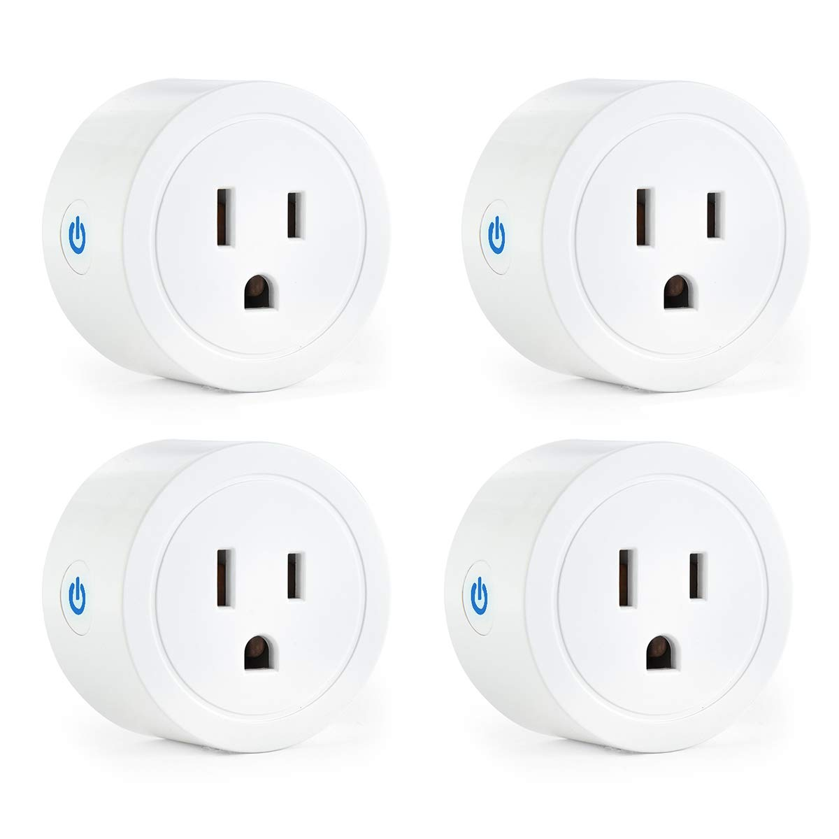 Vestaiot Smart Plugs Compatible with Alexa Google Home IFTTT for Voice Control, Mini Smart Outlet Plug Wifi Smart Socket with Timer Function, FCC ETL Certified, No Hub Required 4 Pack