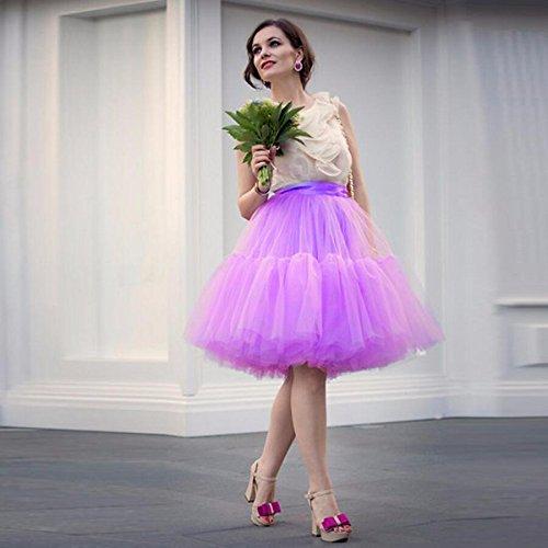Delle Di Adulti Principessa Il Tutu Stratificati Pizzo Mini Scfl Viola Organza Partito Gonna Petticoat Per Donne Balletto Prom wPz6xSY