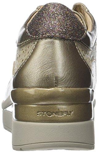 Z00 Donna Tacco lam bis con Goat Scarpe Fizz Stonefly 2 Cream col Plateau Oro Metal w06I6vqx