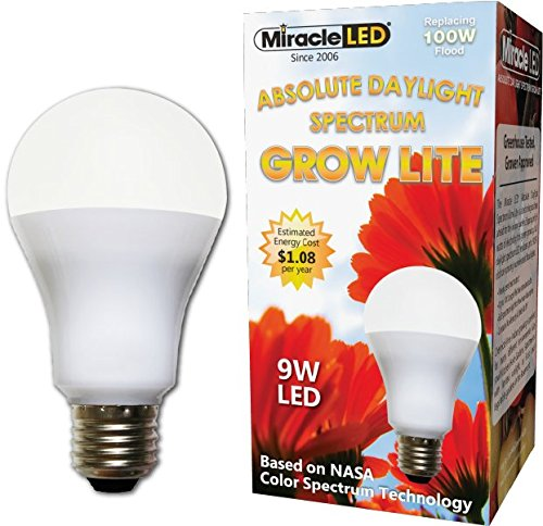 Miracle LED 605010 LED 9 Watt Absolute Daylight Spectrum Grow Lite