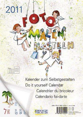 Foto - Malen - Basteln Schutzengel 2011: Kalender zum Selbstgestalten