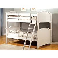 247SHOPATHOME Idf-BK616W Bunk-Beds, Twin, White