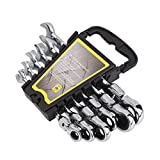 Sedeta Gears Wrench 6pc Piece SAE Master Ratcheting Dual Head Socket Open End Ratchet Metric Wrench Kit Spanners