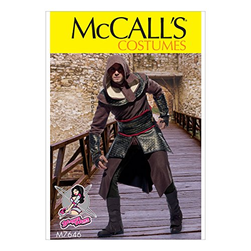Mccalls Costume Patterns Medieval (McCall's Patterns M7646 Men's Tunic, Top, Capelet, Belt, and Gauntlets Costume by Yaya Han, Size 38-44)
