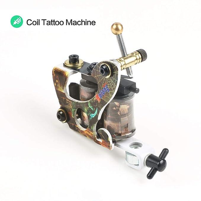 ZWEN Tatuaje Principiante Una Bobina Kit De La Máquina para ...