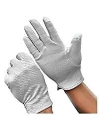 Men's Summer Driving Gloves Cotton Non Slip Touchscreen UV Sun Protection Gloves for Cycling Motorcycle Camping