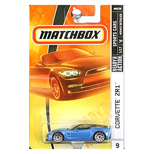 Matchbox 2007 Sports Cars Chevrolet Chevy Corvette ZR1 Blue #9