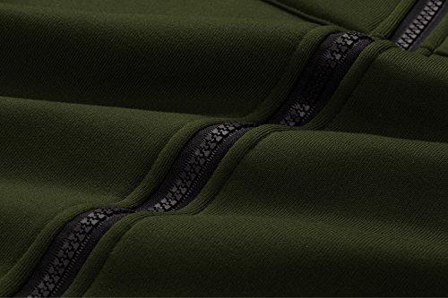 Verde Con Lunga Donna Giacca Elegante Cardigan Cappuccio Bainasiqi Militare Cappotto Invernale Parka Casual APqwHB