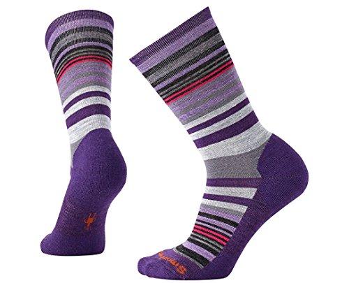 Smartwool Women's Jovian Stripe Socks (Mountain Purple Heather) Small