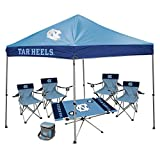 NCAA Hall of Fame Tailgate Bundle - University of North Carolina (1 9x9 Canopy, 4 Kickoff Chairs, 1 Endzone Table)