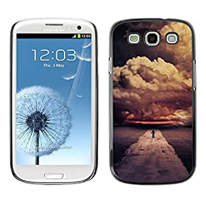 Hot Style Cell Phone PC Hard Case Cover // M00102752 orange nature clouds skies // Samsung Galaxy S3 i9300