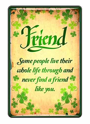 Ireland Epoxy Magnet Friend Saying With Green Shamrock Design (Best Friend Fridge Magnets)
