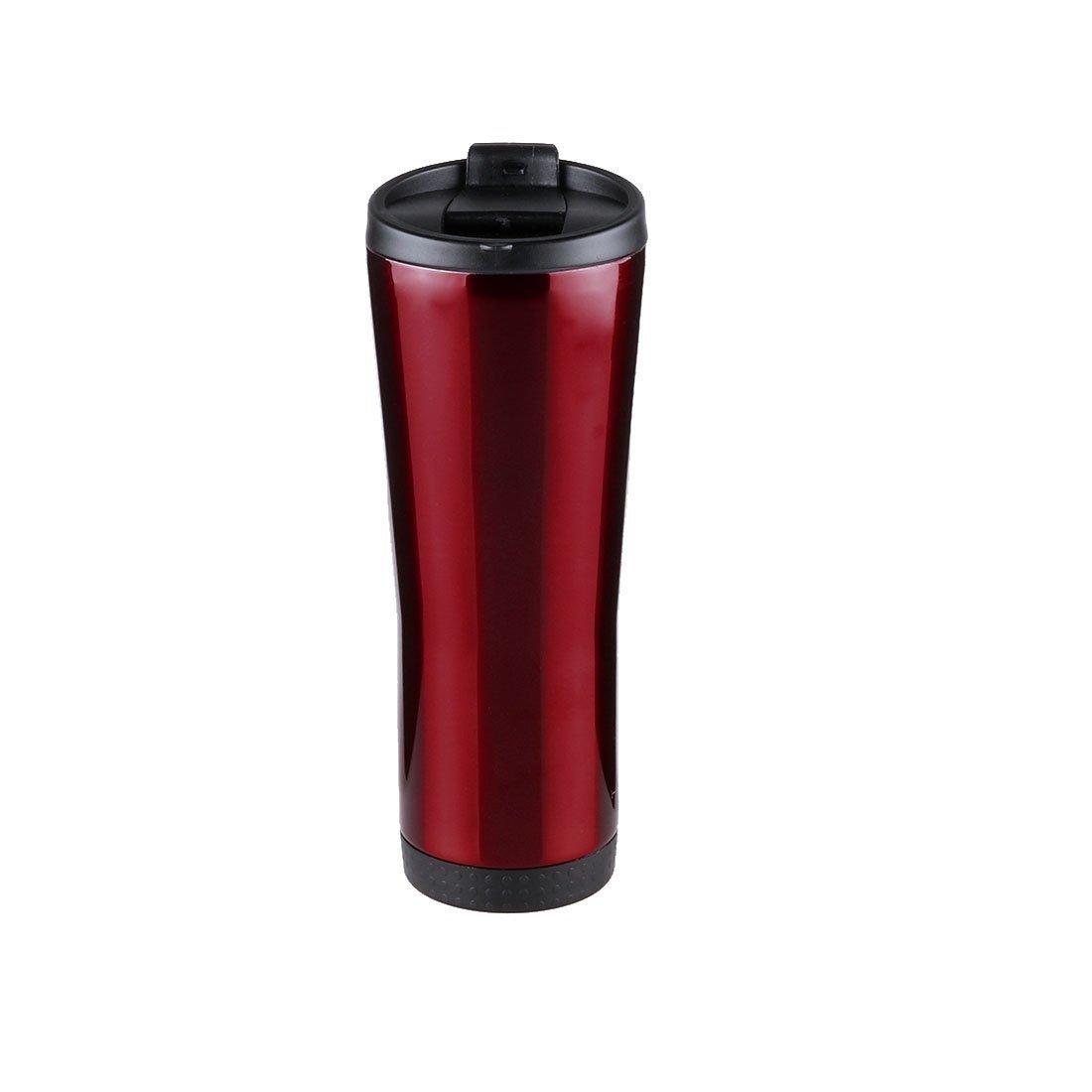 Amazon.com: eDealMax AOBONA vacío autorizado Vaso Térmico 18/8 viaje del acero inoxidable del Ministerio del Interior Taza-Sweat taza de café con tapa, ...