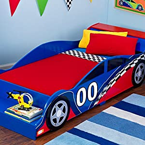 KidKraft Racecar Toddler Bed – 76040