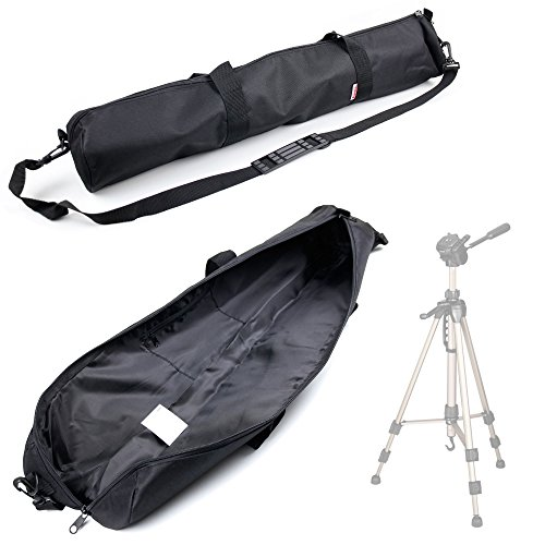 DURAGADGET Premium Quality Water-Resistant Tripod Carry Bag/Cover for Hama Star 63, 62 & 61 Tripod - with Removable & Adjustable Shoulder Strap and Separate Carry Handles (Hama Star 62 Tripod With Carry Case)
