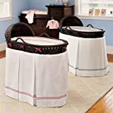 Pottery Barn Kids Bassinet & Bordered Pique Bedding