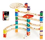 Hape 6007 Quadrilla Xcellerator 136pc Marble Run with Bag of 50 Marbles