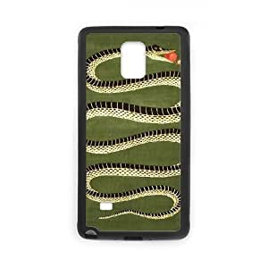 snake apple Samsung Galaxy Note 4 Case Black