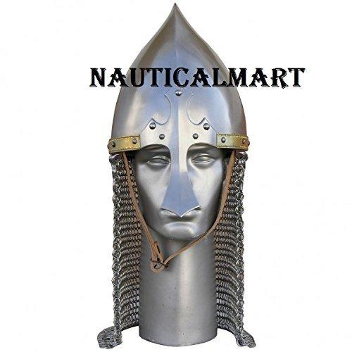 FIZA GROUP Medieval Knight Steel Armor Arabian Helmet -