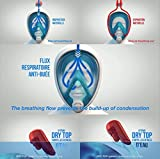Tribord EasyBreath Full Face, Anti-Fog, Hypoallergenic Silicone Facial Lining Snorkeling Mask, Blue, L/XL