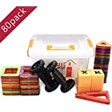 Whiteleopard Magnetic Building Blocks Educational Tiles or Toys for Toddlers Kids- 66 Pcs & Storage Box Included …