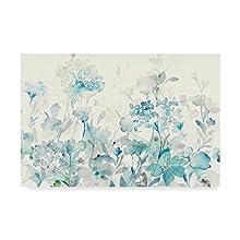 Translucent Garden Blue Crop by Danhui Nai, 16x24-Inch