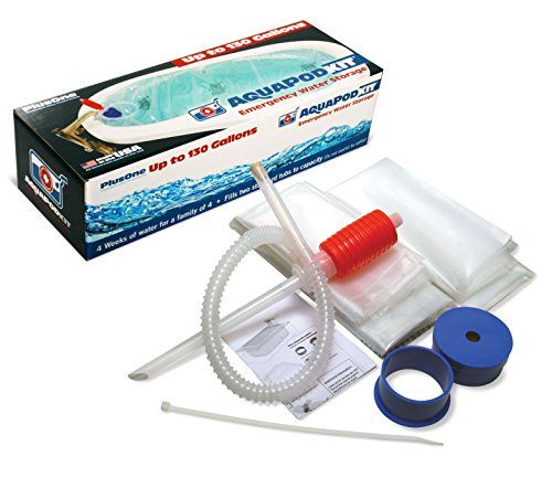 AquaPodKit- PlusOne - Emergency Drinking Water Storage (130 Gallons - Two 65 Gallon Reservoirs) - Made in USA! by AquaPodKit