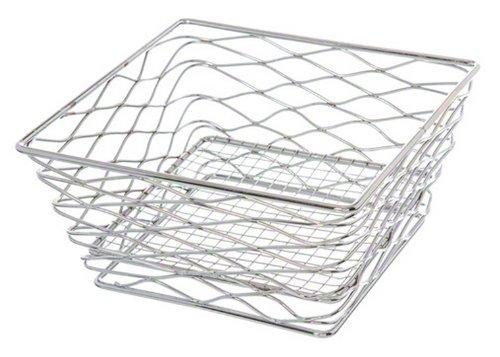 American Metalcraft BNRB68C Square Birdsnest Wire Basket, Chrome INC.