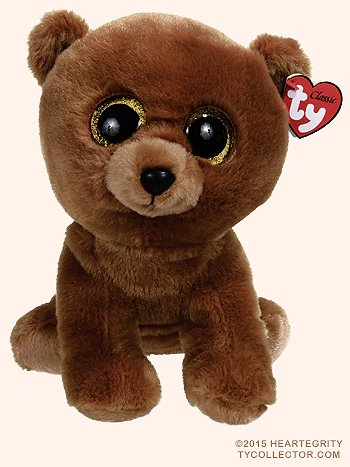 Y Classic Plush TY Classic Plush - BROWNIE the Brown Bear (9.5 inch)- 25cm Medium Buddy Size 9