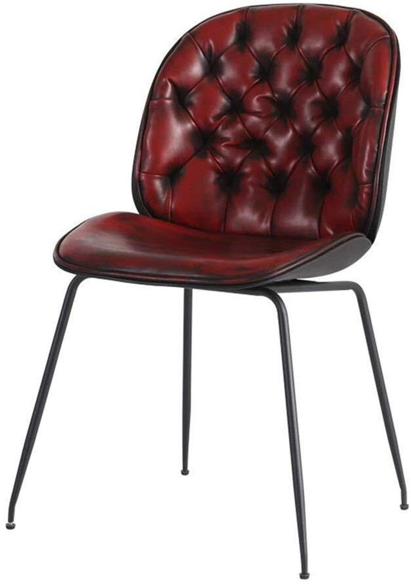 CHU N Pub Chair, High Back Faux Leather Dining Chairs Seat Kitchen Dining Room Furniture 929 (Size : Red) by CHU N