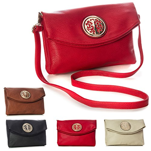 Bag Flap Design Soft Shop Handbag Leather Over Vegan Clutch Multiple Shoulder 1 Big Coffee Trendy Evening Pockets Womens 86nwZZBq