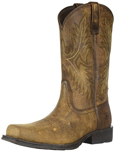 (ARIAT Men's Western Rambler Boot, Vintage Bomber, 11 D US)
