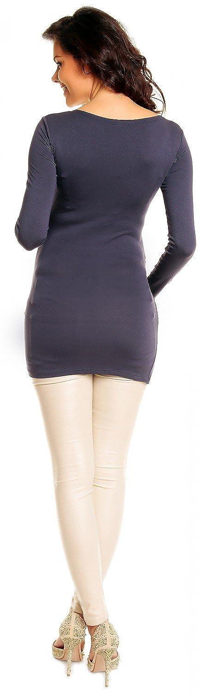 Zeta Ville- maternité - robe tunique de grossesse - manche longue - femme - 941c