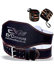 EVO Fitness 10 cm tyngdlyftningsbälte rent läder gymbälten med gratis tyngdlyftningsremmar handledsband ryggstöd bodybuilding Dead Lifting