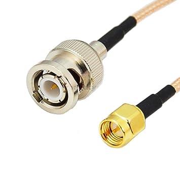 3 pies SMA macho a BNC macho RF coleta puente Jumper COAXIAL Cable RG316 1m ...: Amazon.es: Electrónica
