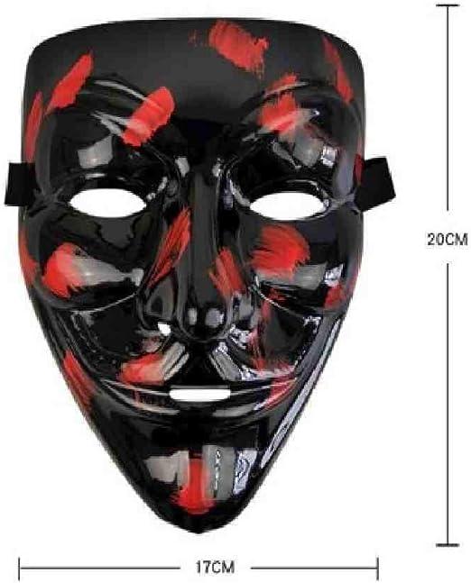 DSNGZ Halloween Máscara de Luz LED Máscaras Divertidas El año de ...
