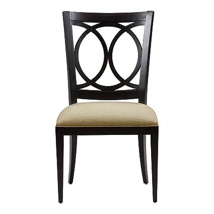Amazon Com Ethan Allen Cyra Side Chair Burnt Umber Cayman Cream