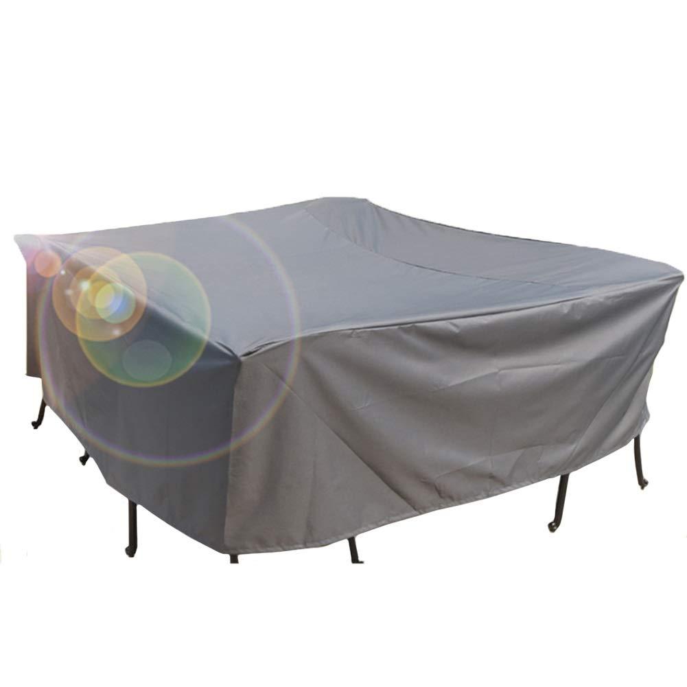 家具カバー テラスの屋外のテーブルおよび椅子の家具雨/塵カバー、灰色 (Size : 220×220×70cm) B07TB22CPR  220×220×70cm