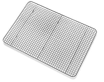 Top Rated Bellemain Cooling Rack - Baking Rack , Chef Quality 12 inch x 17 inch - Tight-Grid Design, Oven Safe, Fits Half Sheet Cookie Pan