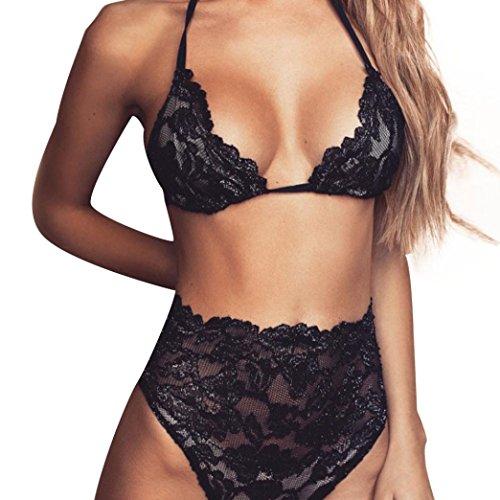 JUNKE Women Sexy Lingerie Chest Open Underwear