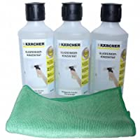 Kärcher Glasreiniger RM500 - 3 x 500ml - plus Crotan Microfasertuch grün 40 x...